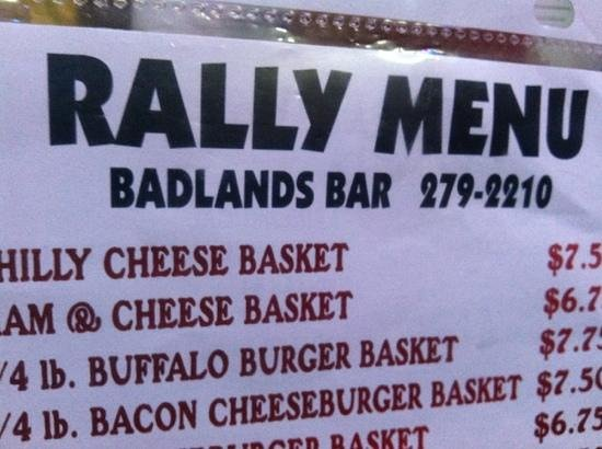 Badlands Saloon and Grille: good lunch