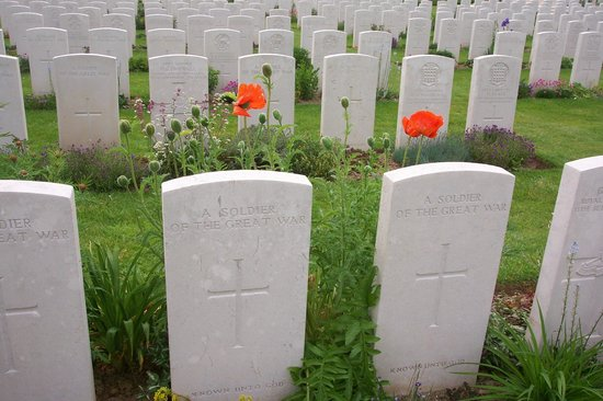 Single Step Tours - Day Tours: One small corner of the Delville Wood Cemetery