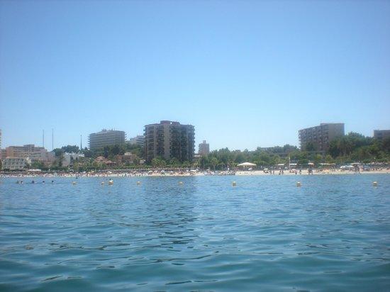 Sol Lunamar Apartments: Beach view from pedalo