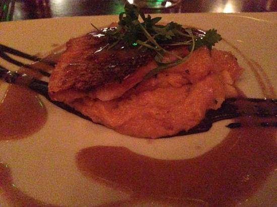 Catch: sautéed snapper with lobster mash