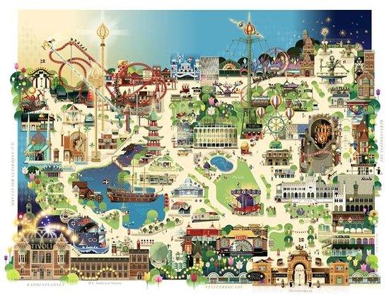 Tivoli mapa fotograf a de jardines tivoli copenhague for Jardin tivoli