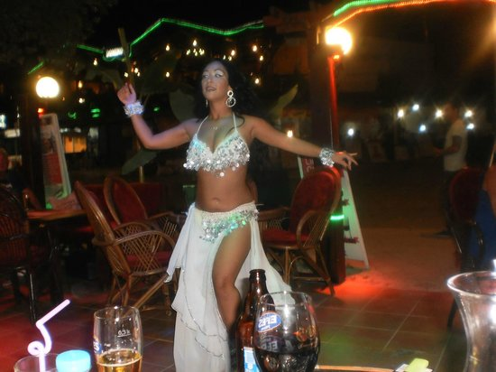 Cubana Cocktail Bar : Gorgeous Belly Dancer who was very talented & great fun .