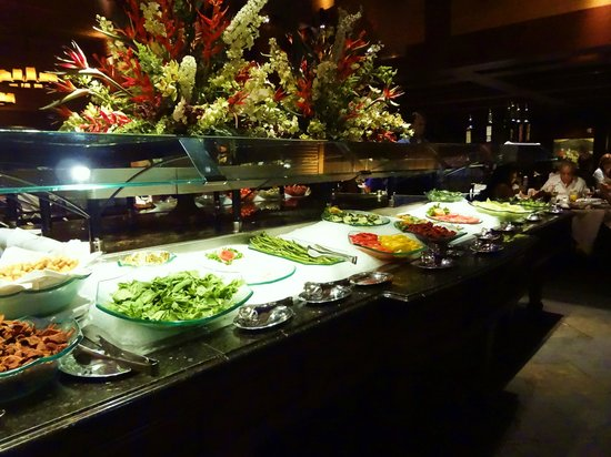 Fogo de Chao Brazilian Steakhouse: Fruit, Salad, Cheese and dried meats