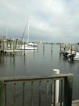 Ocracoke Harbor Inn: View from dock outside office.