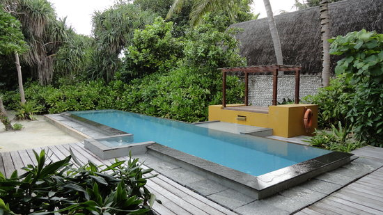 Four Seasons Resort Maldives at Landaa Giraavaru: Pool area at villa