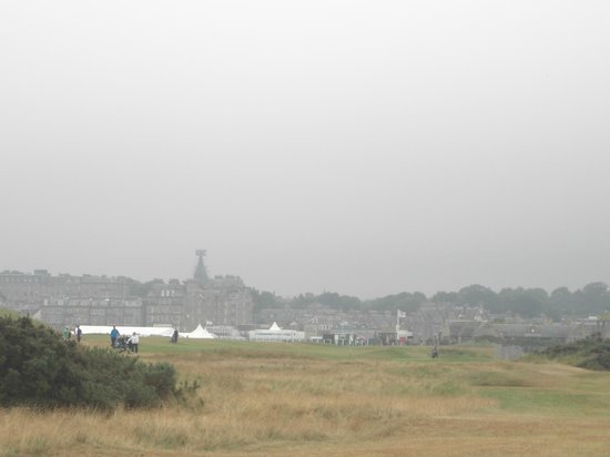 New Course at St. Andrews Links: view of town