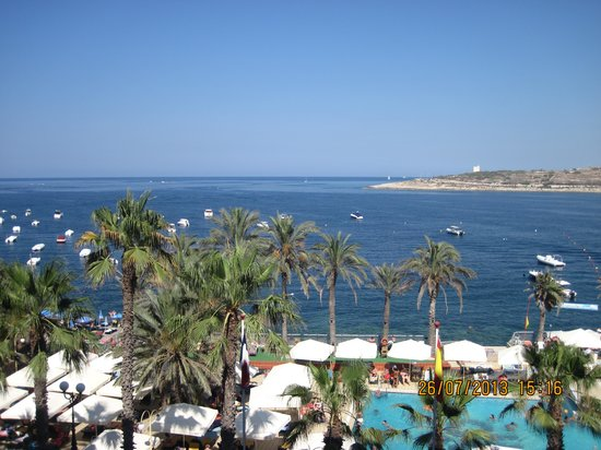 Qawra Palace Hotel : Sea view from room