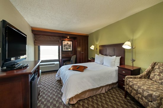 Hampton Inn Baton Rouge I-10 & College Dr.: King bedded guestroom