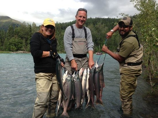 Alaska Kenai Fishing for Fun: Salmon for dinner?!?