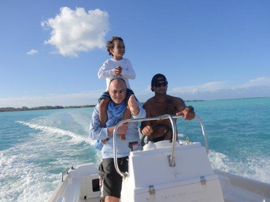 Bora Bora Fishing Paradise Lodge : Les Trois Mousquetaires de la mer
