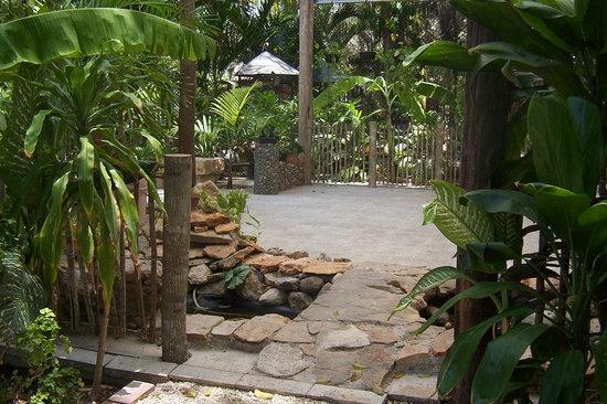 Posada el Jardin: estanque y puente
