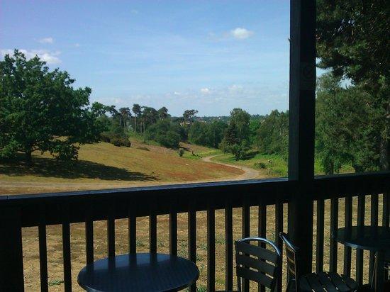 Sutton Hoo: Widok z restauracji