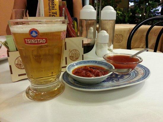 Ristorante Nuova Hong Kong : Birra cinese e salse