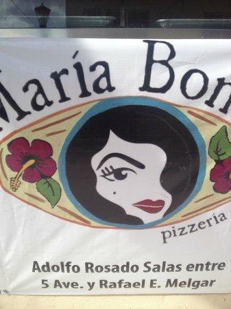 Maria Bonita Pizza: El logo está bonito