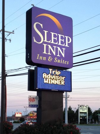 Sleep Inn & Suites Rehoboth Beach Area: Hotel sign as taken during our stay