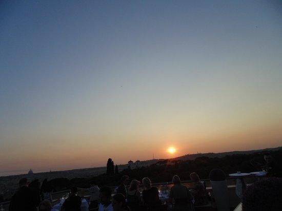 Sofitel Rome Villa Borghese: Rome sunset at Sofitel Terrace
