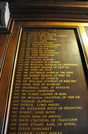 Edinburgh Castle - list of governors of Edinburgh