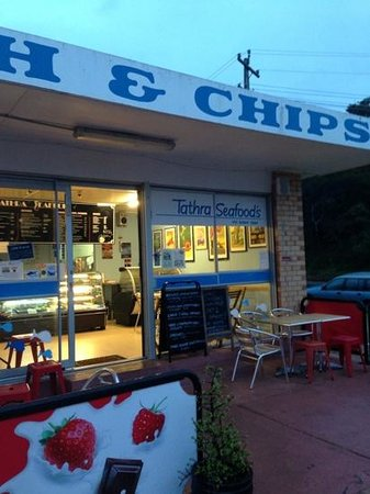 Tathra Seafoods at dusk