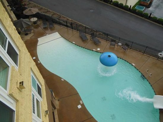 Cherokee Lodge Condos: pool from balcony in 303