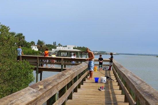 Mary McLeod Bethune Beach Park: Busy Boardwalk Today