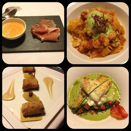Images from our dinner at Palazzo Righini