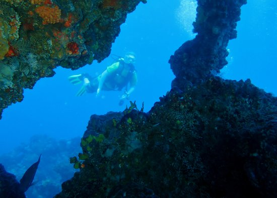 Playa Santa Lucia, Kuba: Diving Morena Wreck