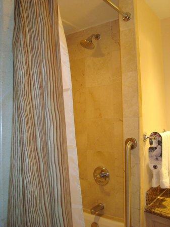 Real InterContinental Tegucigalpa at Multiplaza Mall: Hotel Real Intercontinental shower
