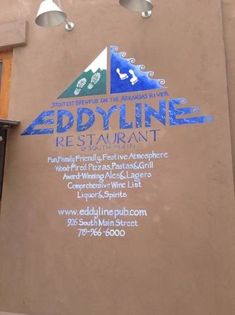 Eddyline Restaurant at South Main: What you read is what you get.