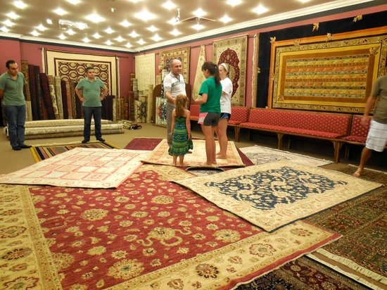 Tayf Tours: Trying out Turkish carpets in bare feet
