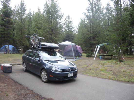 Bridge Bay Campground: Our campsite in loop H