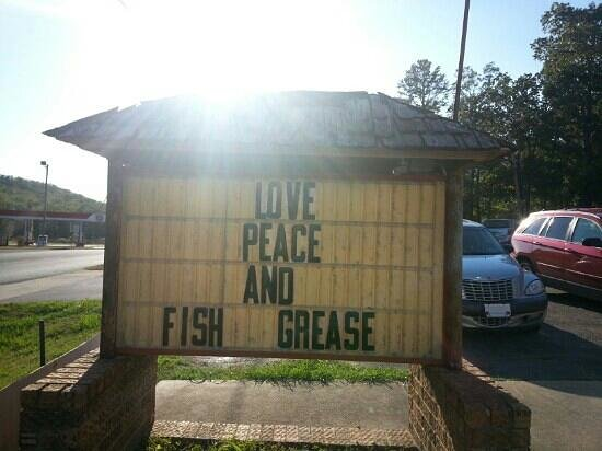 Fred's Fish House: on the sign out front