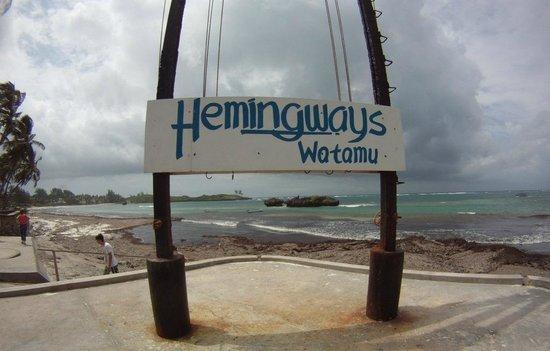Watamu Beach: The beach seen from the Hemingways resort