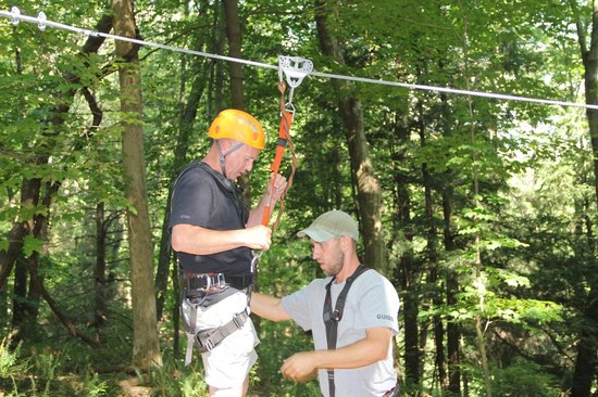 Soaring Cliffs Zip Line Course: GETTING READY TO GO!