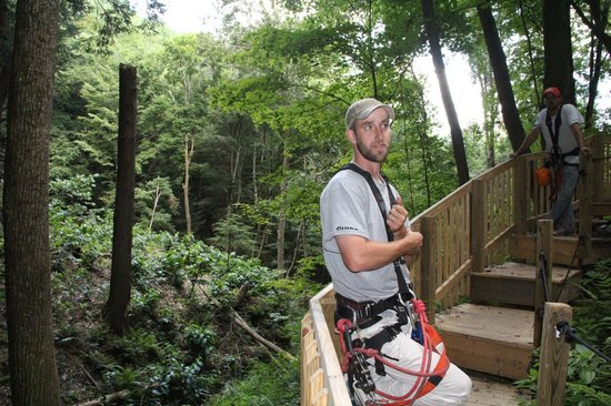 Soaring Cliffs Zip Line Course: HARD WORKING OWNER