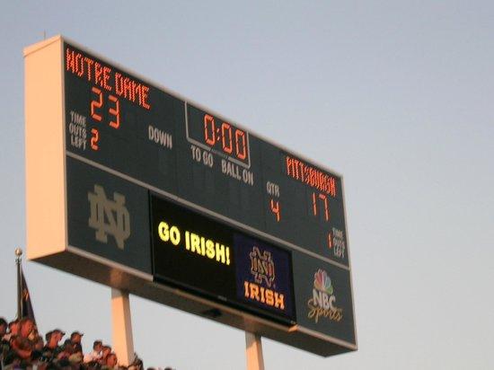 Notre Dame Stadium: The Scoreboard