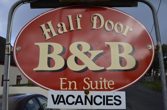 Half Door B&B: Sign