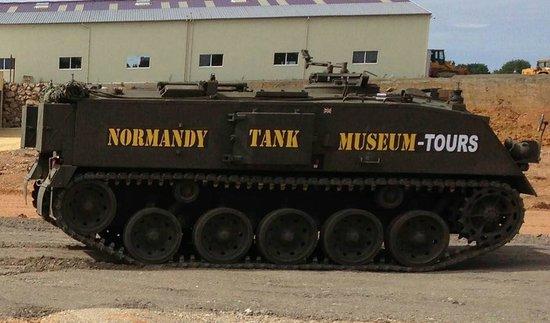 Normandy Tank Museum : PARCOURS EN CHAR COMME PASSAGER