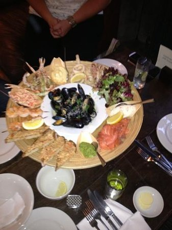 The Oak Room: The spectacular seafood platter at The Angel