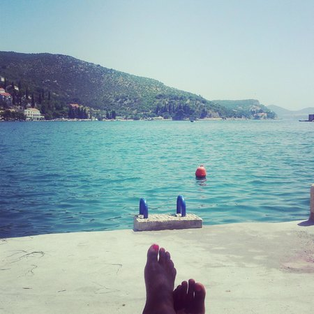 View from the access to the water - Villa Zaton