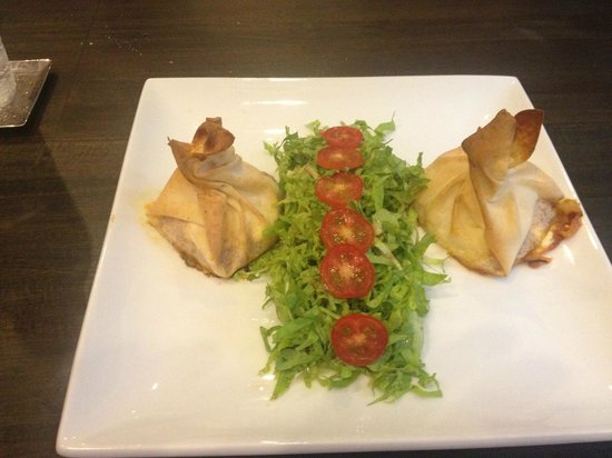 Hacienda Beach Restaurant: aumoniere tomate chevre et miel