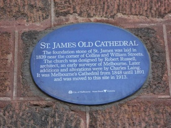 ‪‪St James' Old Cathedral‬: Heritage Plaque for St James' Old Cathedral‬
