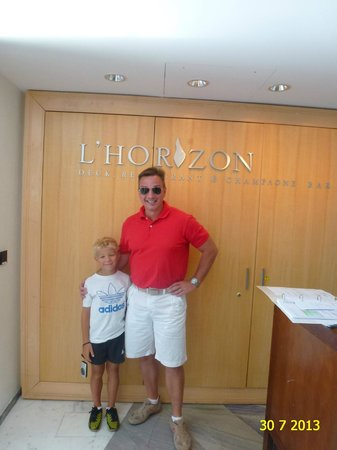 VIEW OF L'HORIZON DECK RESTAURANT IN FAIRMONT HOTEL MONTE-CARLO, JULY 2013.