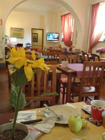 Hotel Orto di Roma: La sala colazione