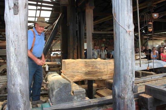 Wilderness Woodworks: Man hard at work!