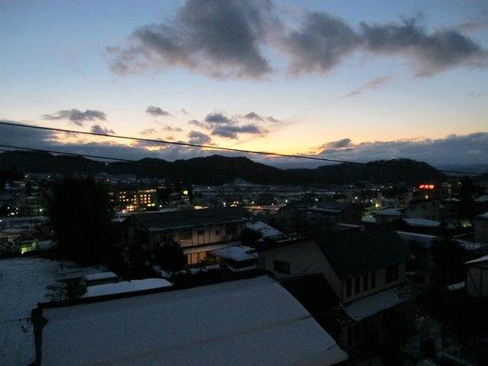 Shimaya Ryokan: Balcony Sunset