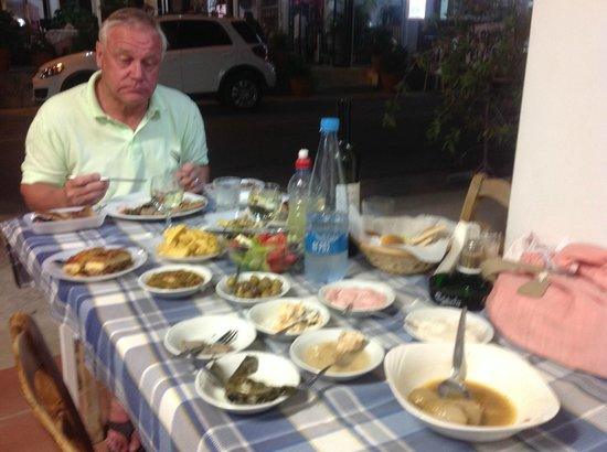 Elyssia Hotel & Restaurant: Enjoying the Meze at Pedoulas yummy