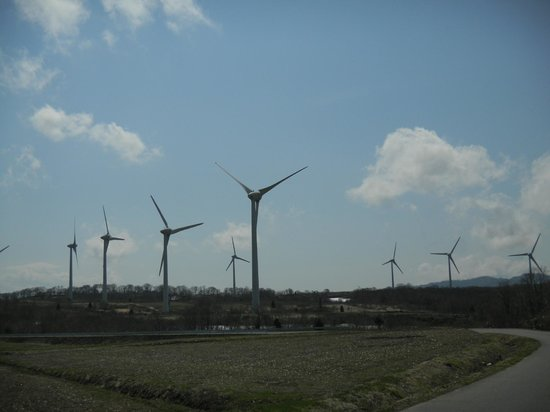 Корияма, Япония: 壮観な風力発電の風車