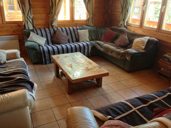 Chalet Jonquille : Shabby Chic - a nice area with big TV, Sound System and a working fire.
