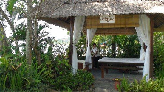 Santai Hotel Bali: Massage au son des vagues