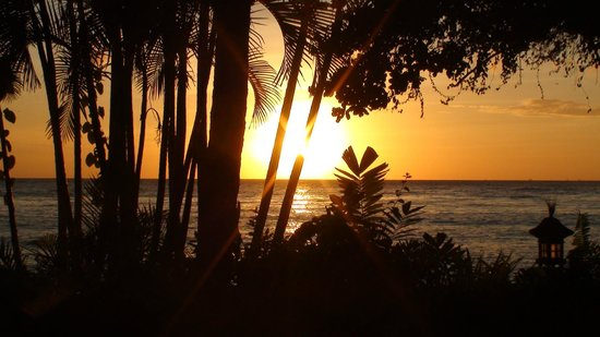 Santai Hotel Bali: Lever de soleil